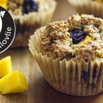 Easy Gluten-free Oatmeal Muffins with Mango & Blueberry | Sugar-free Vegan Recipe