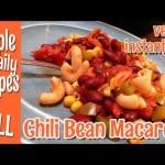 Chili Bean Macaroni, Vegan Instant Pot Recipe