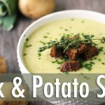 Creamy Leek and Potato Soup | Healthy Vegan Recipe