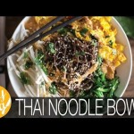 Easy Vegan Gluten Free Dinner: Thai Noodle Bowl Recipe Collab w/ Hot For Food | The Edgy Veg