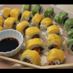 Epic Vegan Sushi Recipe! – Vegetable Rolls With Mango & Avocado On Top