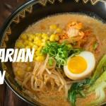 How To Make Vegetarian Ramen (Recipe) ベジタリã'ンラーメンの作り方(レシピ)
