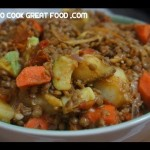 Lentil Hotpot Recipe  – Vegan Ginger & Vegetable stew casserole
