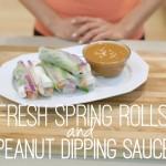 Quick & Easy Vegan Recipes with Daniella Monet // Fresh Spring Rolls & Peanut Dipping Sauce