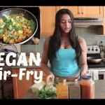 Vegan Dinner Spicy Tofu Stir Fry Recipe | Easy & Delicious !