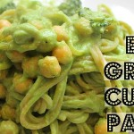 EASY VEGAN RECIPE: CREAMY GREEN CURRY PASTA (Collab with Edgy Veg) ♥ Cheap Lazy Vegan