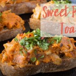 Vegan Sweet Potato & Caramelized Onion Toast | Birthday Recipe #sweettater