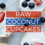 Raw Coconut Cupcakes | NO-BAKE HEALTHY VEGAN 4TH OF JULY RECIPE